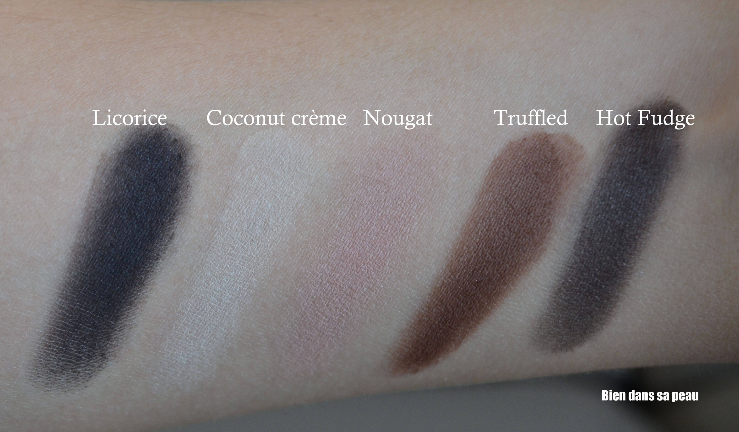 semi sweet swatches maquillage too faced chocolate bar revue blog bien dans sa peau. Black Bedroom Furniture Sets. Home Design Ideas